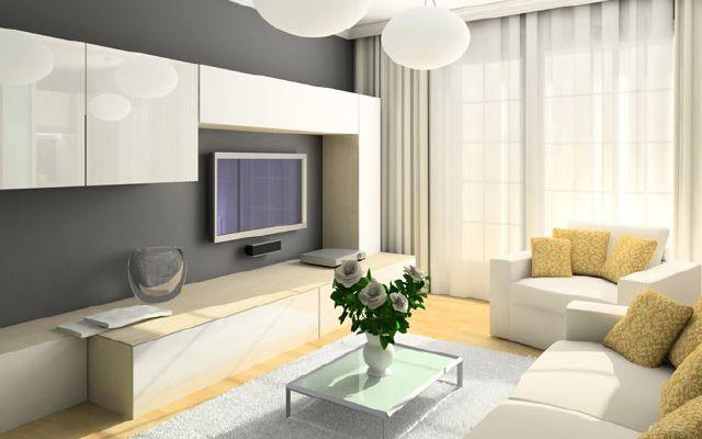 Дизайн гостинной 19 кв м