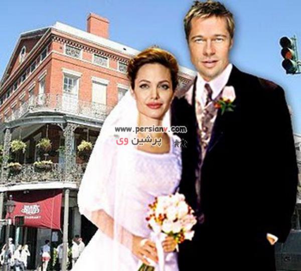 عکس های عروسی آنجلیناجولی قبل از ازدواج با برادپیت