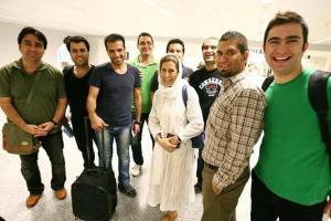 عکس یادگاری فاطمه معتمدآریا با علی کریمی در بیروت