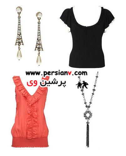 مدل لباسهای مناسب برای صورتهای گرد +عکس
