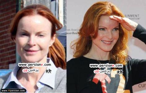 سری جدید تصاویر بدون آرایش بازیگران زن هالیوود ( عکس)