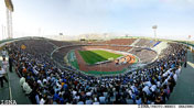 حضور بهرام رادان و رضا یزدانی در ورزشگاه در دربی
