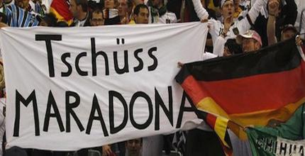 مجادله مارادونا با طرفداران آلمان بعد از باخت تيمش