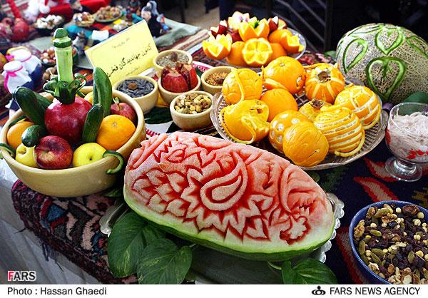 میوه آرایی ...+ عکس