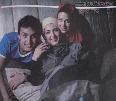 تصاویر : فاطمه گودرزی و همسرش به اتفاق فرزندانش پویان و آوا