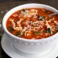 سوپ لازانیا یک غذای خوشمزه و متنوع