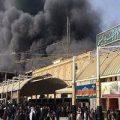 آتش سوزی هتلی در نجف |۴۳ زائر ایرانی مصدوم شدند