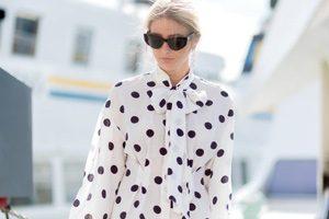 مدل بلوزهای شیک و زیبا با طرح خال خالی سیاه و سفید