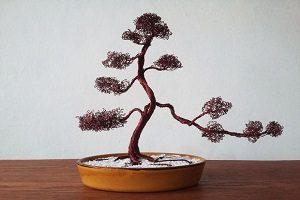 آموزش ساخت درختچه بونسای تزیینی با سیم!