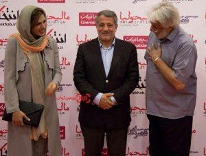 محسن هاشمی در مراسم اکران یک فیلم در کنار بازیگران معروف!