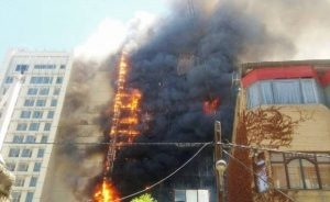 آتش سوزی در هتل ۲۰ طبقه خیابان امام رضا (ع) مشهد!