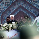 مراسم رژه نیروهای مسلح با حضور روحانی و فرماندهان سپاه و ارتش