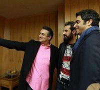 اکران فیلم پر سرو صدای آذر | دایی و معروف در جمع معروفترینها