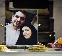مراسم یادبود زوج شهید کشتی سانچی در رشت