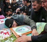 مراسم تشییع شهدای آشوب خیابان پاسداران
