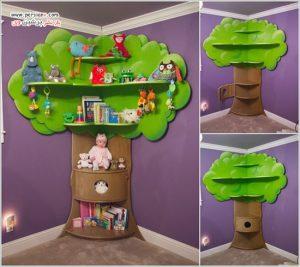 ایده های عالی برای ایجاد قفسه کتاب در دکوراسیون اتاق کودک