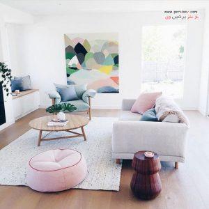 دکوراسیون های بسیار زیبا به سبک مینیمالیست برای اتاق نشیمن
