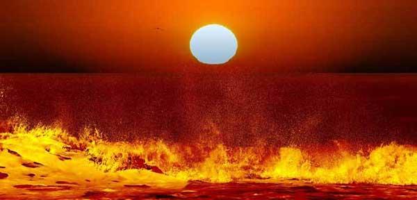 دریاها در قیامت آتش میگیرند؟