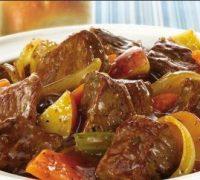 طرز تهیه طاس کباب بادمجان و گوجه فرنگی
