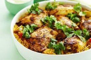 طرز تهیه کته مرغ