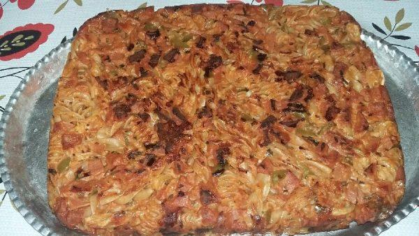 طرز تهیه کوکوی ماکارونی