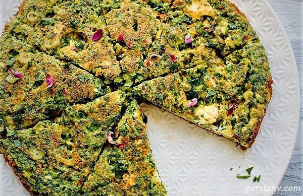 طرز تهیه کوکوی باقلا سبز