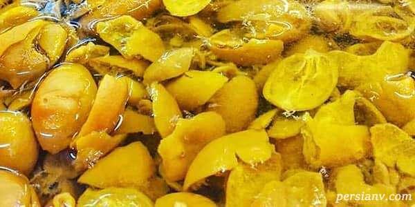 طرز تهیه ترشی پوست لیمو ترش