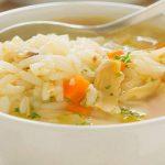 طرز تهیه سوپ برنج و مرغ