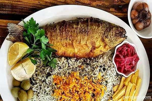 سبزی پلو با ماهی برای شب عید