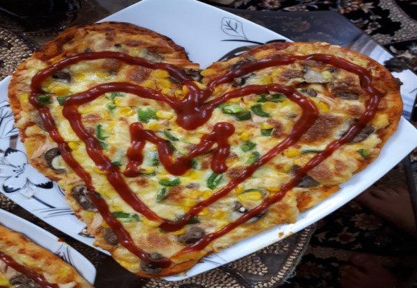 پیتزا قلب