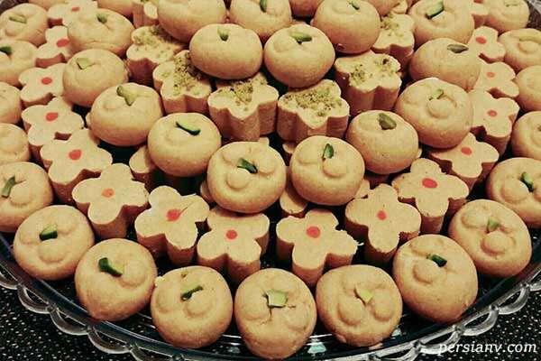 نان نخودچی خانگی شیرینی مخصوص عید