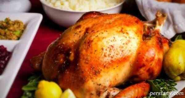 مرغ بریان در فر