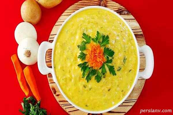 سوپ قارچ و سیب زمینی