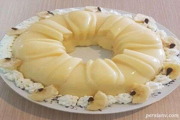 دسر ژله شیرموز