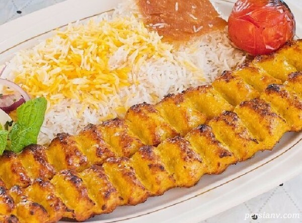کباب کوبیده مرغ خانگی
