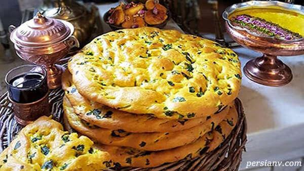 پخت نان سبزیجات خوشمزه و دلچسب