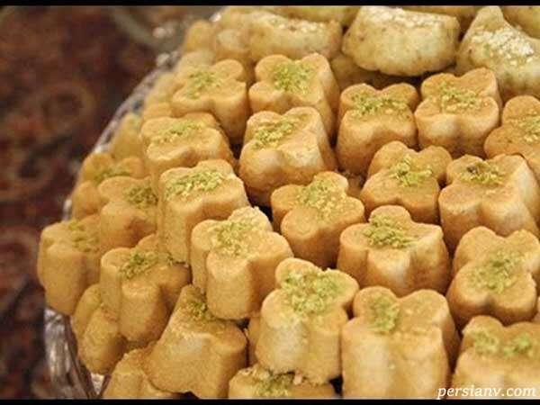 شیرینی خانگی برای عید / نان نخودچی ، شیرینی برنجی ، شیرینی کشمشی