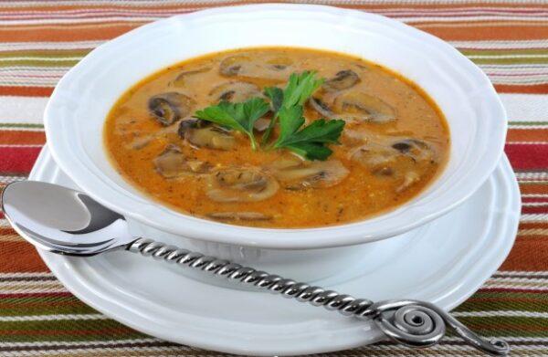 سوپ قرمز قارچ