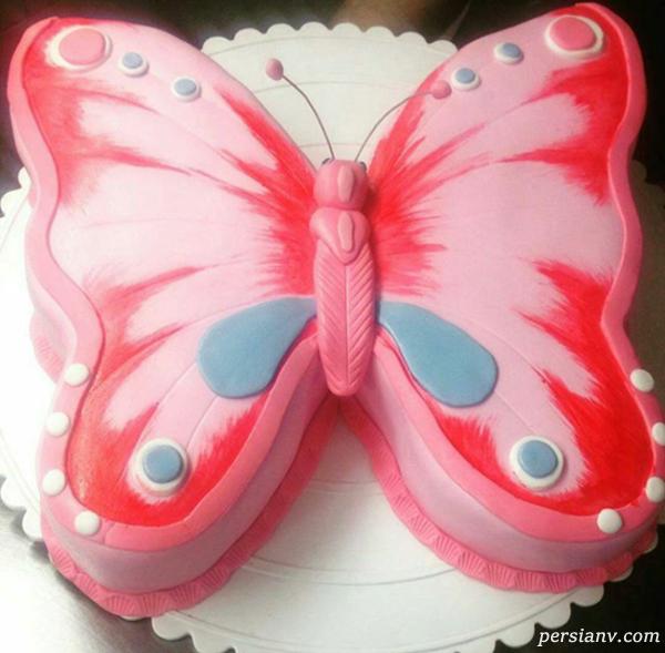 تزیین کیک به شکل پروانه