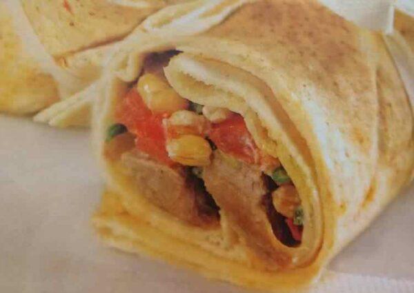 دست پیچ مرغ (این ساندویچ کم کالری مناسب افرادی است که رژیم لاغری دارند)