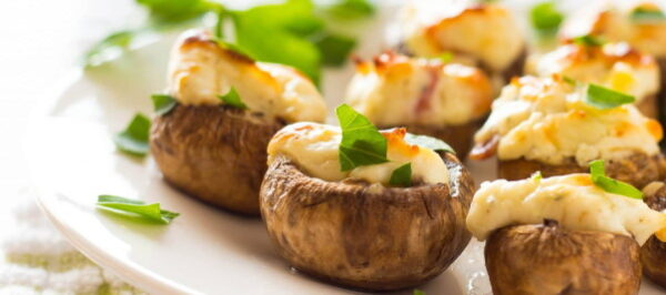 طرز تهیه قارچ شکم پر با خمیر یوفکا