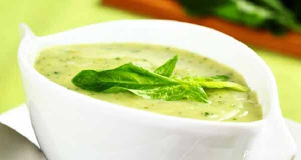 سوپ اسفناج و شیر