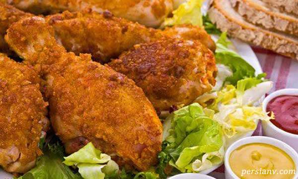 ران مرغ سوخاری پنیری
