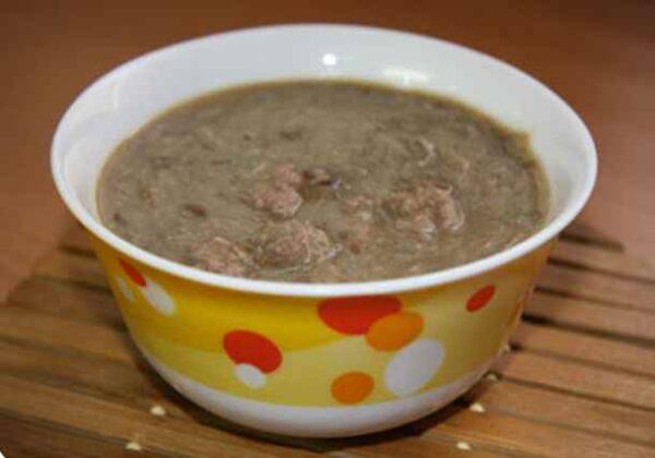 سوپ عدس با گوشت قلقلی