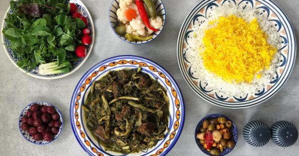 طرز تهیه خورشت کنگر شیرازی