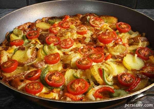 دستور تهیه و پخت املت سبزیجات
