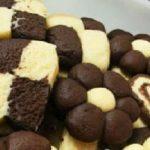طرز تهیه شیرینی فانتزی دو رنگ