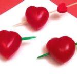 تزیین گوجه فرنگی به شکل قلب برای مجالس شما