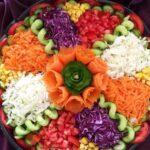 طرز تهیه سالاد هفت رنگ