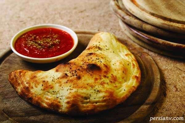 پیتزا کالزونه ایتالیایی
